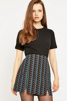 Urban Outfitters Over Scale Geo Slit Skirt - Urban Outfitters