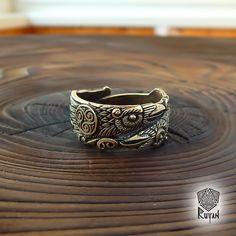 Odins Raben-Ring. Huginn und Muninn Ring. Raven Sie Ring. von RuyaN