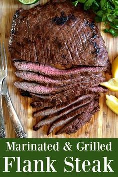 Marinated & Grilled Flank Steak is an easy recipe for a delicious grilled steak featuring a marinade made from ingredients you probably already have at home. Marinated & Grilled Flank Steak is an easy recipe for a delicious grilled st Steak Marinade For Grilling, Flank Steak Tacos, Marinated Flank Steak, Flank Steak Recipes, Grilled Steak Recipes, How To Grill Steak, Grilled Meat, Grilling Recipes, Meat Recipes