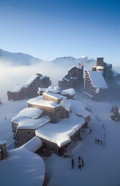 Snow in Avoriaz, France