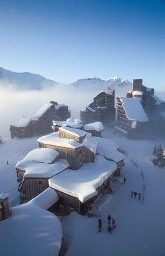 Snow in Avoriaz, France