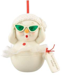 Snowpinion Holywood baby #christmas ornament