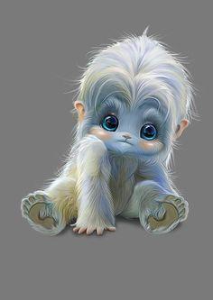 64 Ideas For Baby Animals Dibujo Cute Fantasy Creatures, Cute Creatures, Magical Creatures, Cartoon Cartoon, Cute Animal Drawings, Cute Drawings, Cute Baby Animals, Cute Art, Cute Pictures