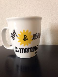 Community Troy and Abed in the Morning #sixseasonsandamovie mug MADE TO ORDER by PaintedHomeGoods on Etsy https://www.etsy.com/listing/200713156/community-troy-and-abed-in-the-morning