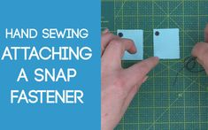 Sewing on a Snap Fastener - collection of brief tutorials for all the hand sewing stitches I use in my sewing projects, patterns & tutorials Daisy Pattern, Free Pattern, Sewing Stitches, Sewing Patterns, Fasteners, Hand Sewing, Sewing Projects, About Me Blog, Tutorials