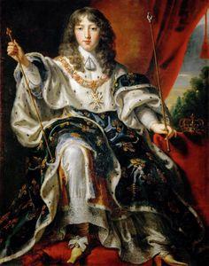La majorité de Louis XIV - Louis XIV en habit de sacre