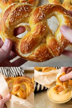 recipes videos Homemade Soft Pretzels are both delicious and EASY! The classic tangy, chewy crust with the fluffy inside is exactly what this recipe will provide. This Soft Pretzel Recipe is fast, too! It takes less than 1 hour from start to finish. Cinnamon Sugar Soft Pretzel Recipe, Soft Pretzel Recipe Without Yeast, Pretzel Bites Recipe No Yeast, Philly Soft Pretzel Recipe, Easy Pretzel Recipe For Kids, Aunt Annies Pretzel Recipe, Soft Pretzel Recipes, Hot Pretzels Recipe, Cake Recipes