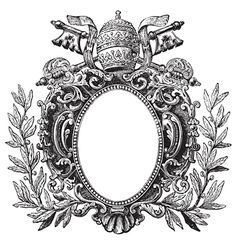 Antique frame engraving vector 145158 - by milalala on VectorStock®