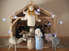 Always wanted to knit a nativity scene - and when complete, my brother kindly made the stable! It now comes out every year and is a big part of family tradition.
