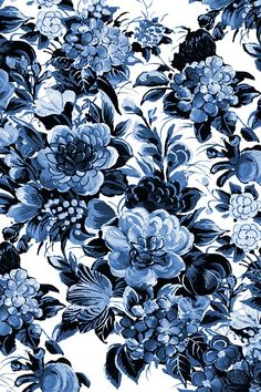 Mid Century Modern Floral Cocktail ~ Lonely Angel Blue and White by peacoquette An uptown, mid century floral in colors just perfect for a cocktail party in Miami in the late 50's. Available in fabric, wallpaper, and gift wrap.