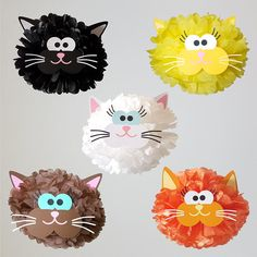 Cat Party Decoration Pompom/Cat Theme/Kitty Birthday Party