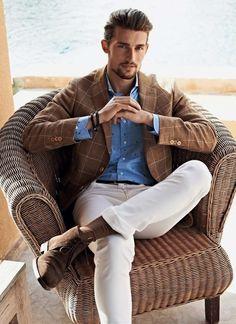 Mens business casual summer 57 mens fashion summer в 201 Rugged Style, Style Casual, Men Casual, Men's Style, Casual Styles, Smart Casual, Casual Tops, Simple Style, Trajes Business Casual
