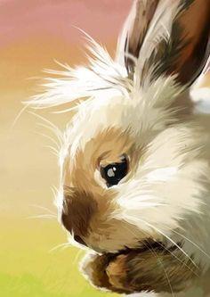 Animal Paintings, Animal Drawings, Art Drawings, Watercolor Animals, Watercolor Paintings, Tattoo Watercolor, Easy Watercolor, Bunny Art, Bunny Bunny