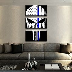 The police are out risking their lives for you, deep down you know a good person would be willing to represent them. Do exactly that with our Thin Blue Line Canvas Seta Printed in HD!Make your home or office look stunning!Unique and original Design! Wesuggest buying framed if you want it ready to be hanged! YES, we ship WORLDWIDE!!    ** The Product Picture In Main ImageIsNot Scale To Size**  ** Everything is HAND framed there is a little discrepancy in each Canvas...