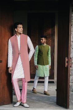 Portfolio of Sarah & Sandeep India Fashion Men, Indian Men Fashion, Men's Fashion, Indian Wedding Clothes For Men, Wedding Dress Men, Nehru Jackets, Long Jackets, Mens Indian Wear, Boys Kurta Design