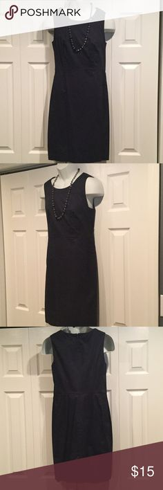 Beautiful Loft Dress Only worn once!! Great work dress!!  Small slit in the back, very pretty on, wore it to my sons Graduation and got many compliments. Navy blue LOFT Dresses