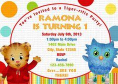 Daniel Tiger Invitation Daniel Tiger Birthday by lovebuggydesigns, $9.99