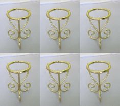 Set of 6 Brass 3 leg Hen Duck Goose Egg Stand,Ball Holder Stand Egg Holder, Candle Sconces, Eggs, Brass, Display, Jewelry, Wire, Felt Decorations, House Decorations
