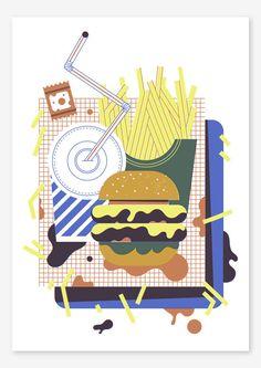 Double Cheese print - JAMIE JONES ILLUSTRATION
