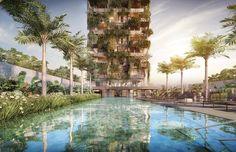 Arquitetura verde - Prédio sustentável com jardim vertical: Seed (São Paulo, Brasil);