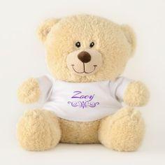 Zoey Teddy Bear - typography gifts unique custom diy