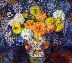 Vase of Flowers (Theo van Rysselberghe - 1907)
