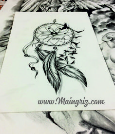 """""""Amazing Tattoo starts with a quality drawing first . """" All our tattoo designs are authentic and made by professional tattoo artists and designers. Many tattooshops and customers around the world ar Atrapasueños Tattoo, Hand Tattoo, Mandala Tattoo, Body Art Tattoos, Tattoo Drawings, Tattoo Forearm, Tatoos, Rose Tattoos For Men, Tattoos For Guys"""