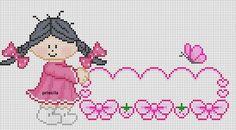 Cross stitch - I Love Crafting Cross Stitch For Kids, Cute Cross Stitch, Cross Stitch Rose, Modern Cross Stitch, Cross Stitching, Cross Stitch Embroidery, Cross Stitch Patterns, Crochet Dolls Free Patterns, Crochet Flower Patterns