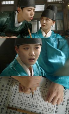 [Spoiler] 'Moonlight Drawn by Clouds' Park Bo-geom helps Kim Yoo-jeong with eunuch qualification exam