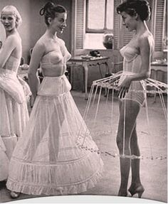 TatiTati Style ☆ 1952 Life Magazine - Crinoline Petticoats - I wonder if we could make something like this for our dresses?