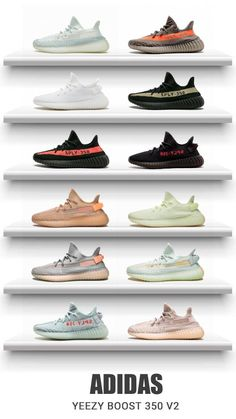 Buy authentic Adidas Yeezy Boost 350 Citrin at online shop New Sneakers, White Sneakers, Sneakers Fashion, Fashion Shoes, Yeezy Sneakers, Green Sneakers, Fashion Outfits, Yeezy Shoes For Sale, Adidas Gazelle