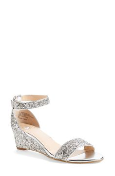 These sparkly sandals are sure to add a little razzle-dazzle to any look.