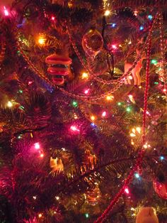 Vintage and new Christmas tree
