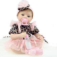 Novo 50-55 cm Princesa Bonecas Reborn Silicone Bebê Reborn Boneca Feito À Mão Crianças Hobbies Brinquedos Para Crianças Presente de Aniversário com Roupas(China (Mainland))