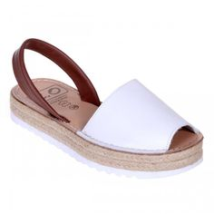 Sandale AVARCA din Piele Alba Si Piele Naturala Maro Espadrilles, Shoes, Fashion, Sandals, Espadrilles Outfit, Moda, Zapatos, Shoes Outlet, Fasion