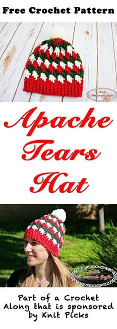 Apache Tears Hat - Free Crochet Pattern - at Nicki's Homemade Crafts