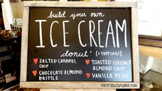Build Your Own Ice Cream Donut at poqetDONUTS
