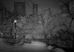 Photographer Suffering From Terrible Insomnia Captures Haunting Pics Of Central Park When There's No People By Dominyka Jurkštaitė  South View, 2012