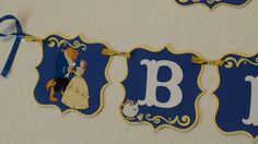 Beauty and the Beast Happy Birthday Banner by CnCpartycreations