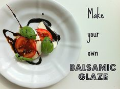 Add some pizzazz to an appetizer or side dish with a delicious, homemade balsamic glaze. Easy recipe!