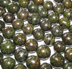 Bombona Beads Pambil Beads Army Green Brown by EcoBeadsTagua, $10.80