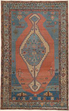 "BAKSHAISH, 9' 1"" x 14' 9"" — 2nd Quarter, 19th Century, Northwest Persian Antique Rug - Claremont Rug Company"