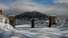 Tree Driveway Gate. Hand cut