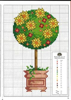 Gallery.ru / Фото #75 - Вышиваем крестом цветы, букеты, деревья - tymannost