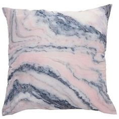 Living Co Cushion Marble Blush 43cm x 43cm