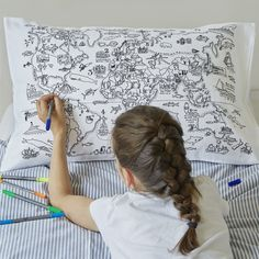 26 Best doodle pillowcases - making bedtimes fun! images | Pillow ...
