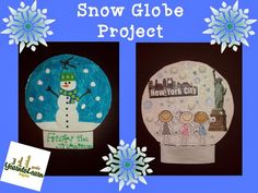 Scenic Snow Globe Scenes Cute classroom snowglobe project!