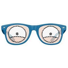 Cartoon Eyes Light Skin Wayfarer Sunglasses