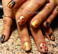Shimmery fall nails | NAILPRO User Gallery