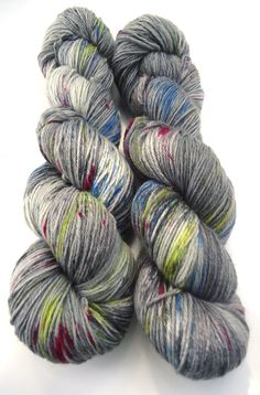Fine Merino Socks hand dyed yarn hand painted: by lakesideyarns
